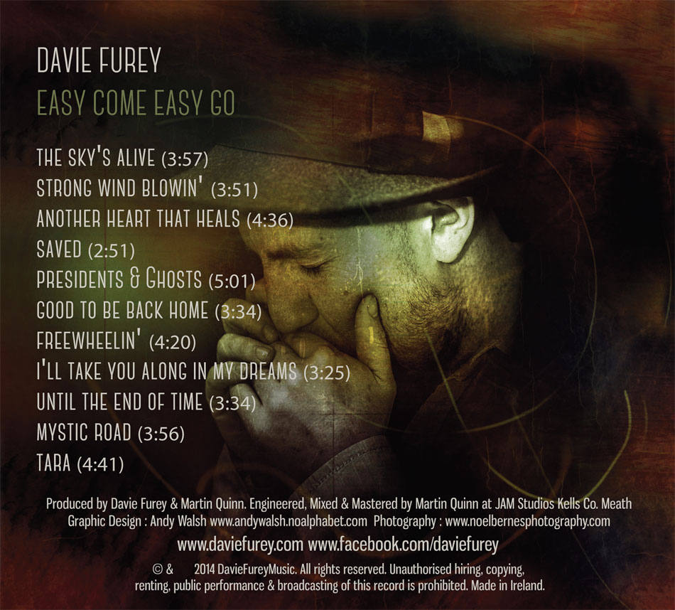 Davie Furey - Back Cover Design.
