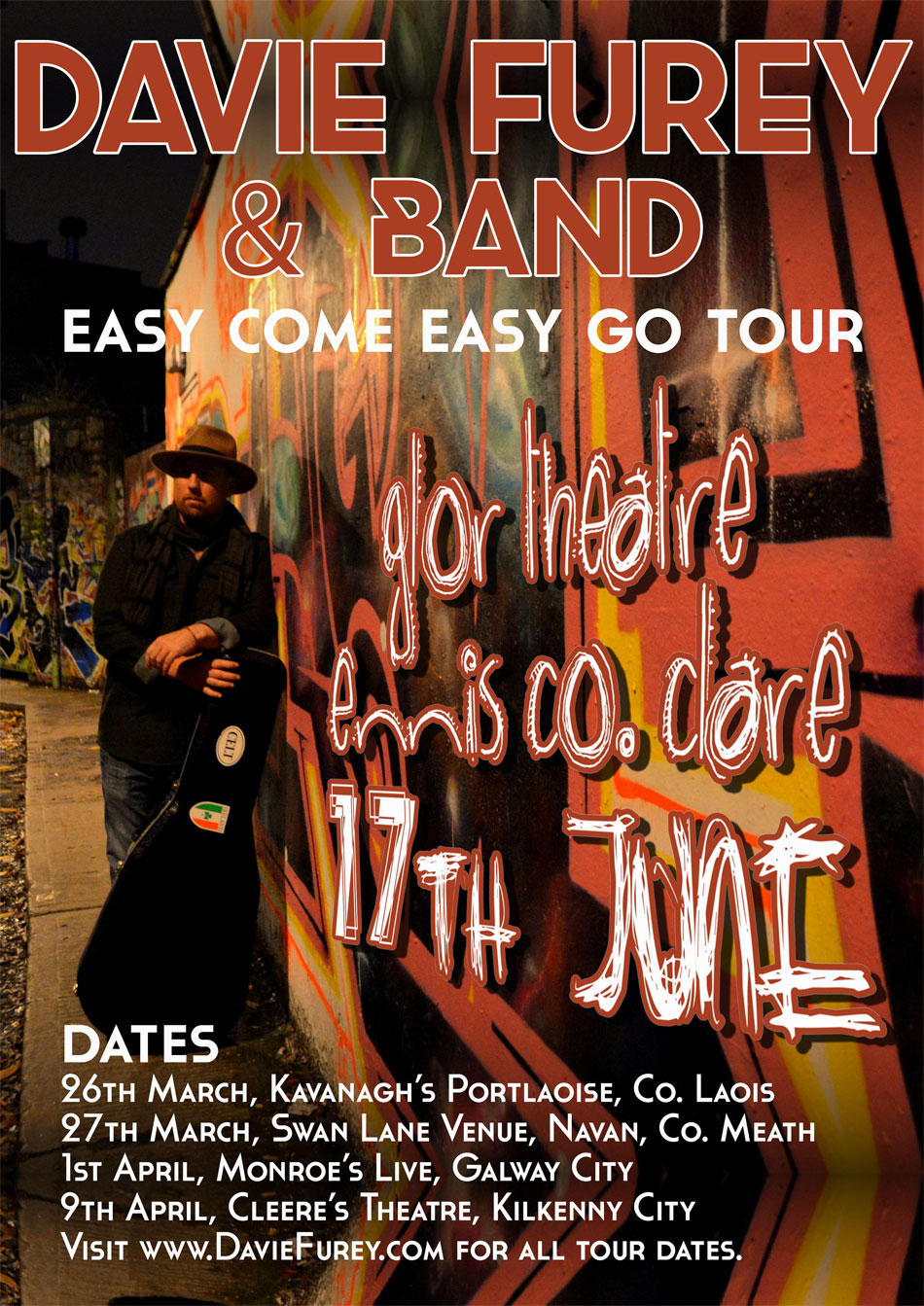 Poster Design - Davie Furey, Easy Com Easy Go Tour.