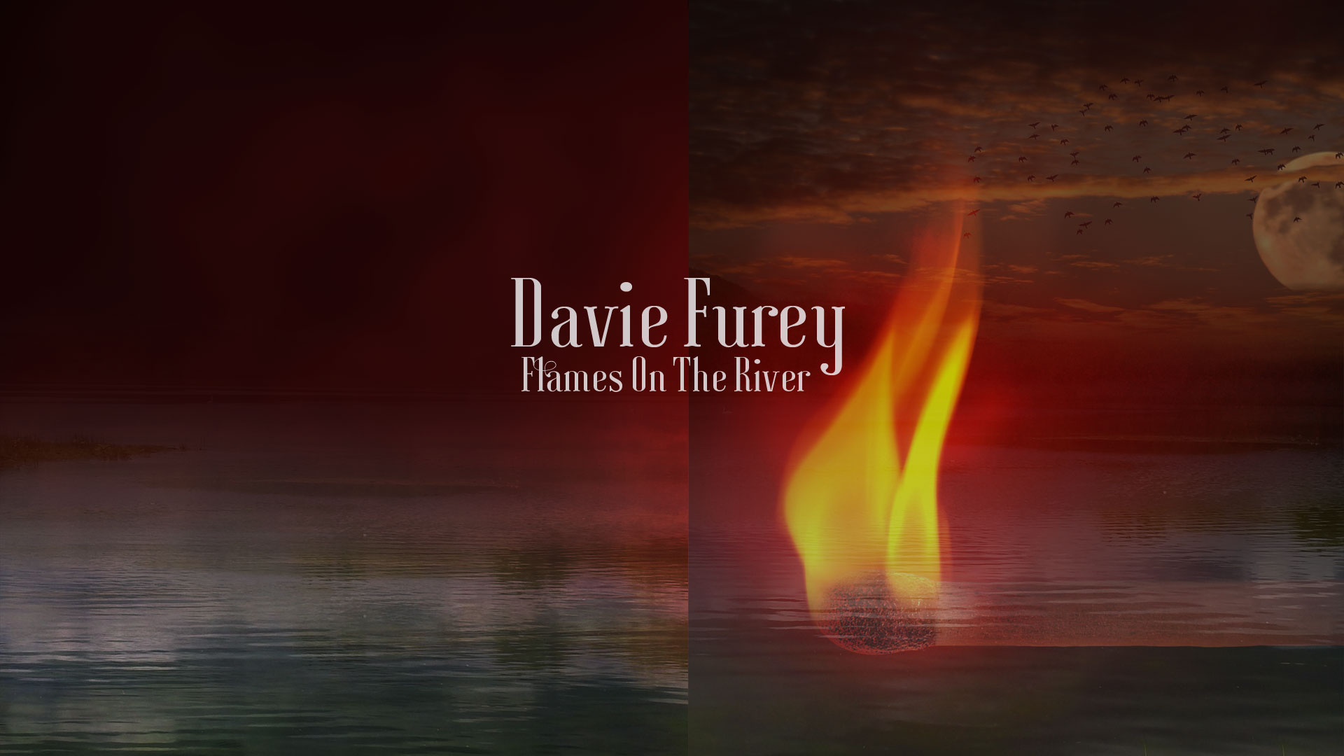 Davie Furey – 'Flames On The River' Album Design