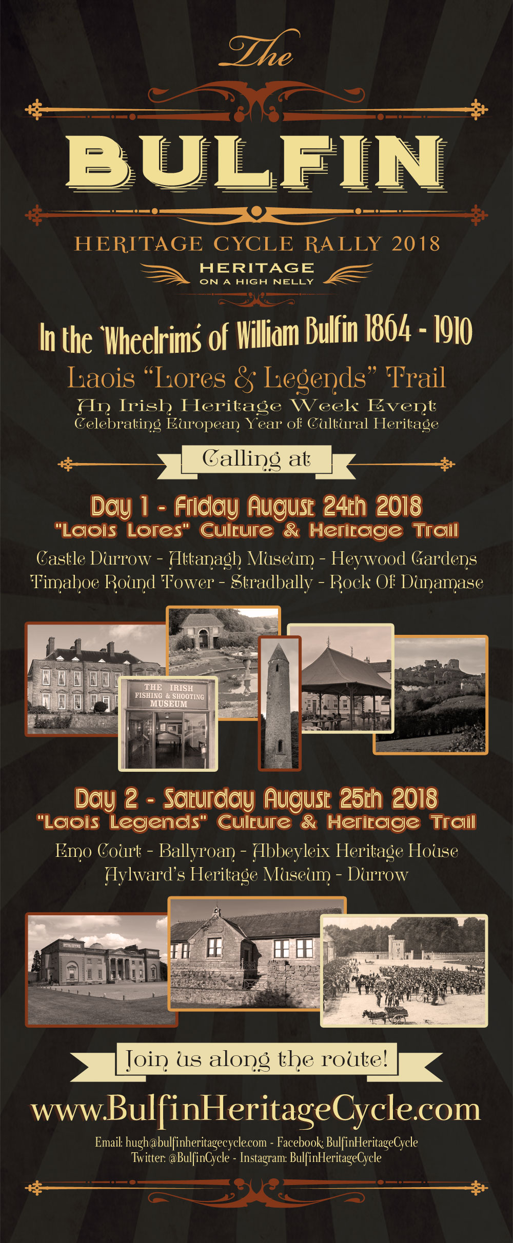 Pull Up Banner design for Bulfin Heritage Cycle